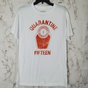 Quarantine Fifteen Graphic Tee White Short Sleeve